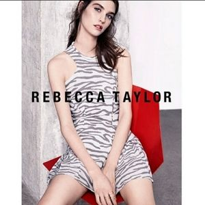Rebecca Taylor sleeveless animal print dress.Size